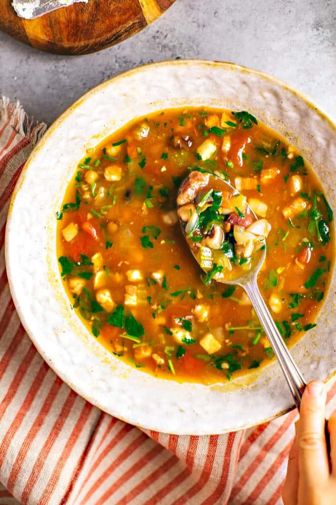 instant pot pancetta and bean soup