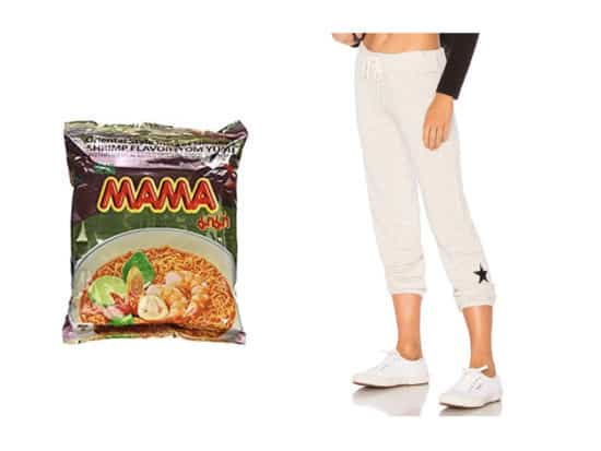 best sweatpants and instant ramen