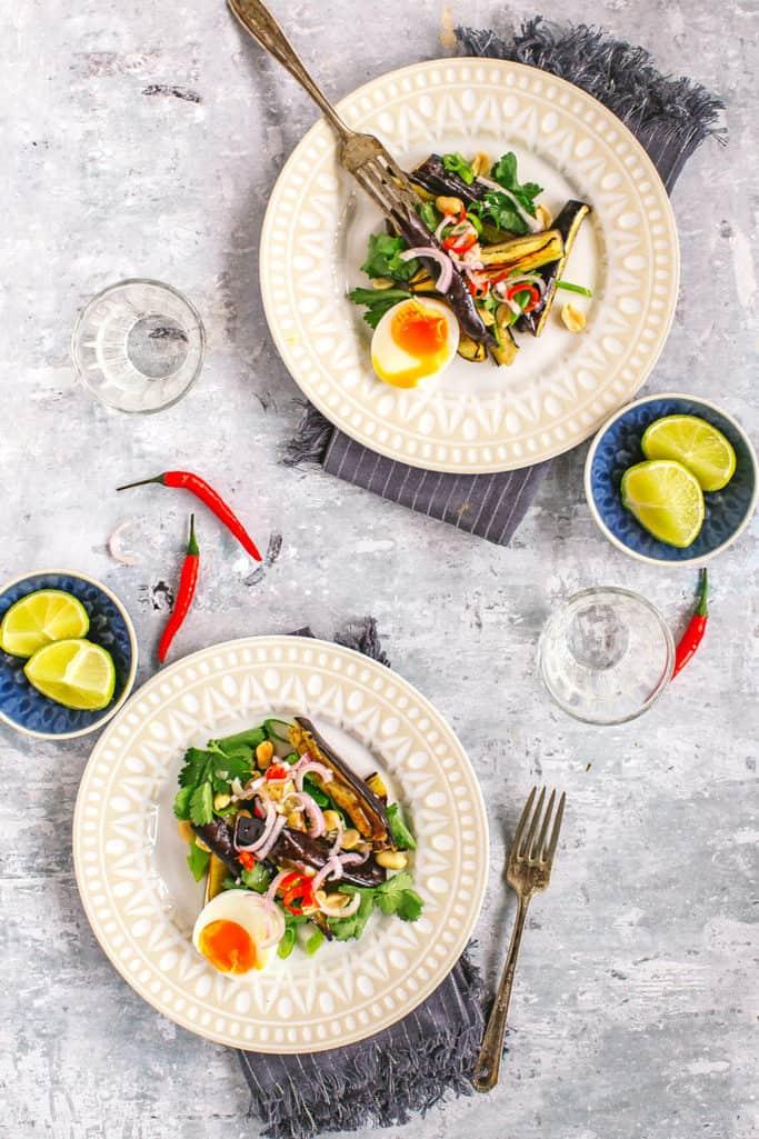 crunchy thai eggplant salad