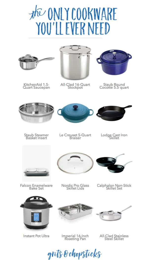 Check out the only cookware you'll ever need to stock your kitchen and get cooking like a pro!