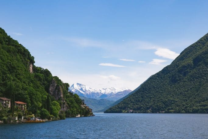 lake lugano switzerland - travel with eurail pass