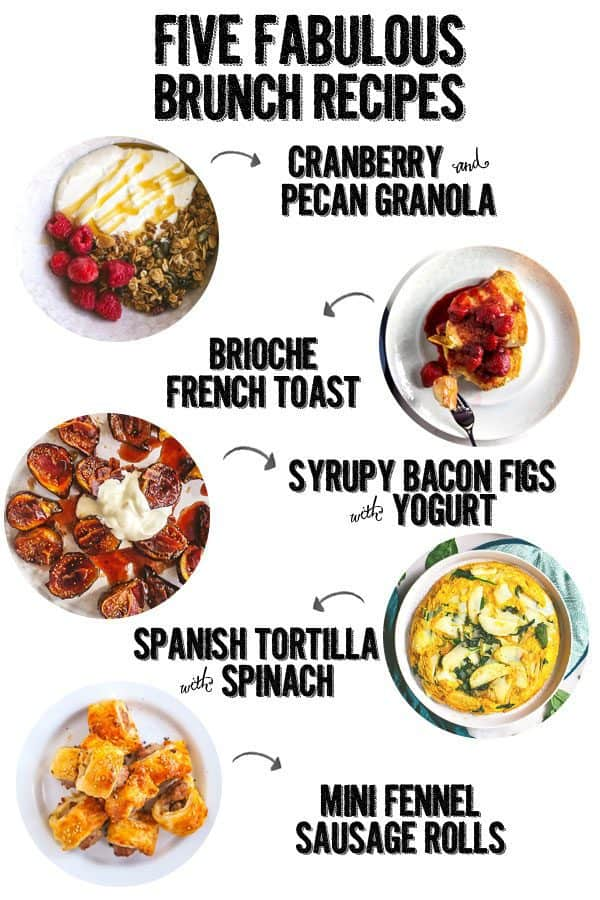 five brunch recipes