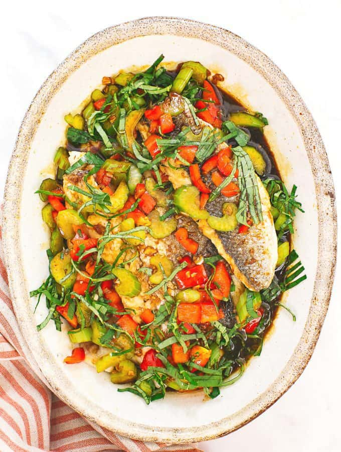 Thai Fish with Basil Sauce