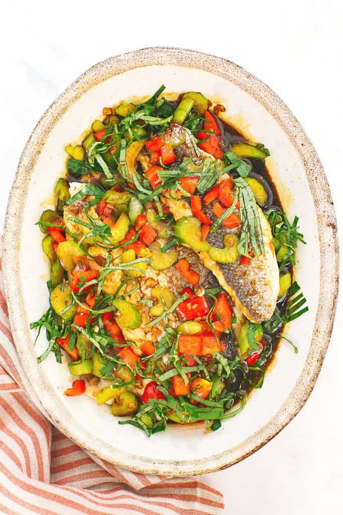 Thai Fish with Basil Sauce