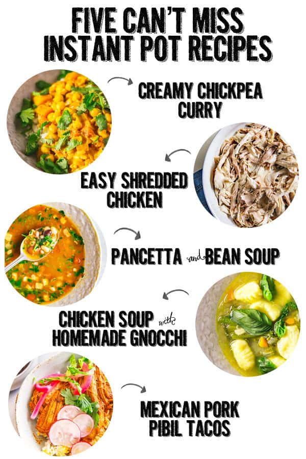 five instant pot recipes