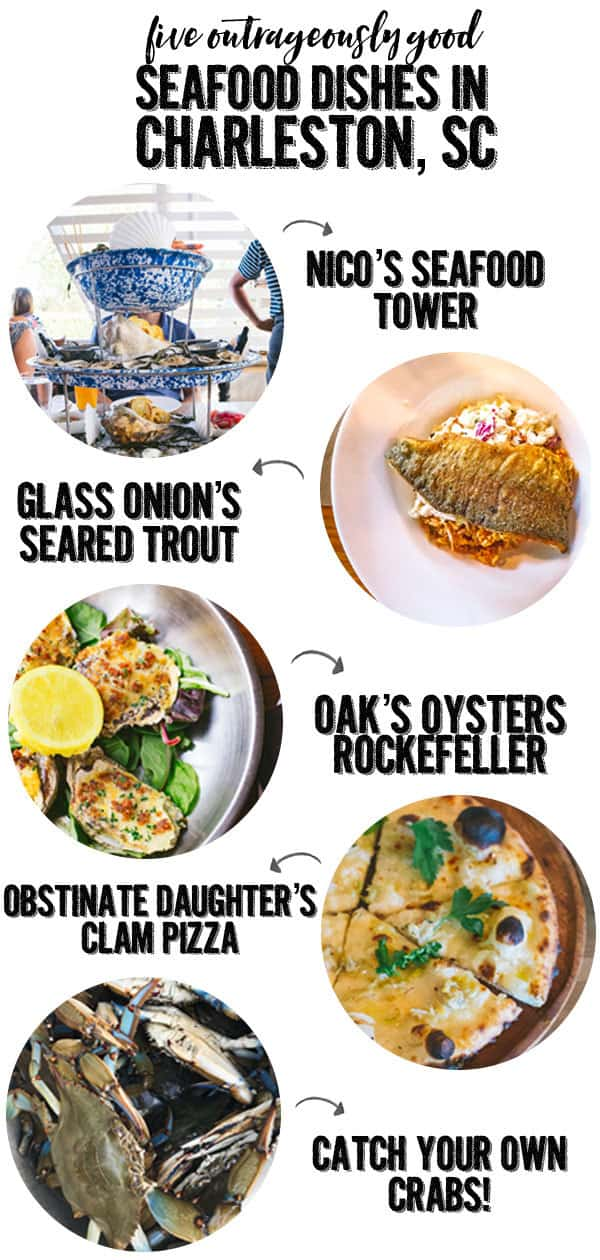 five seafood dishes in charleston south carolina