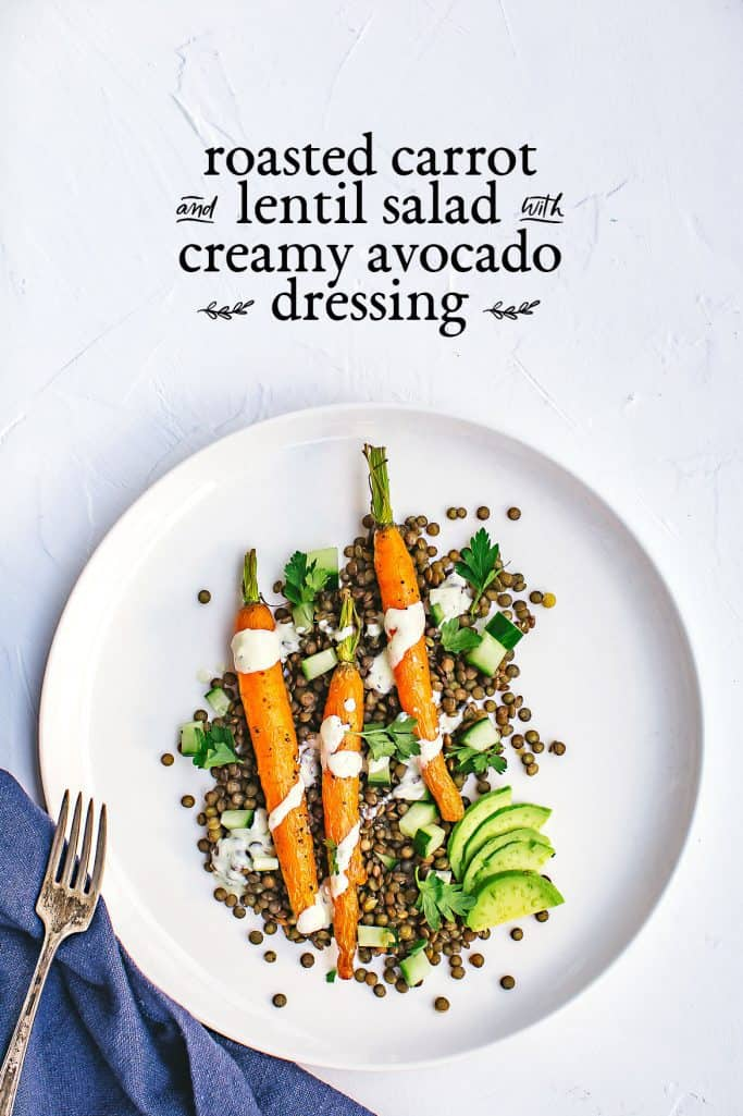 roasted carrot and lentil salad