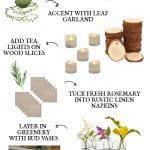 rustic affordable table setting