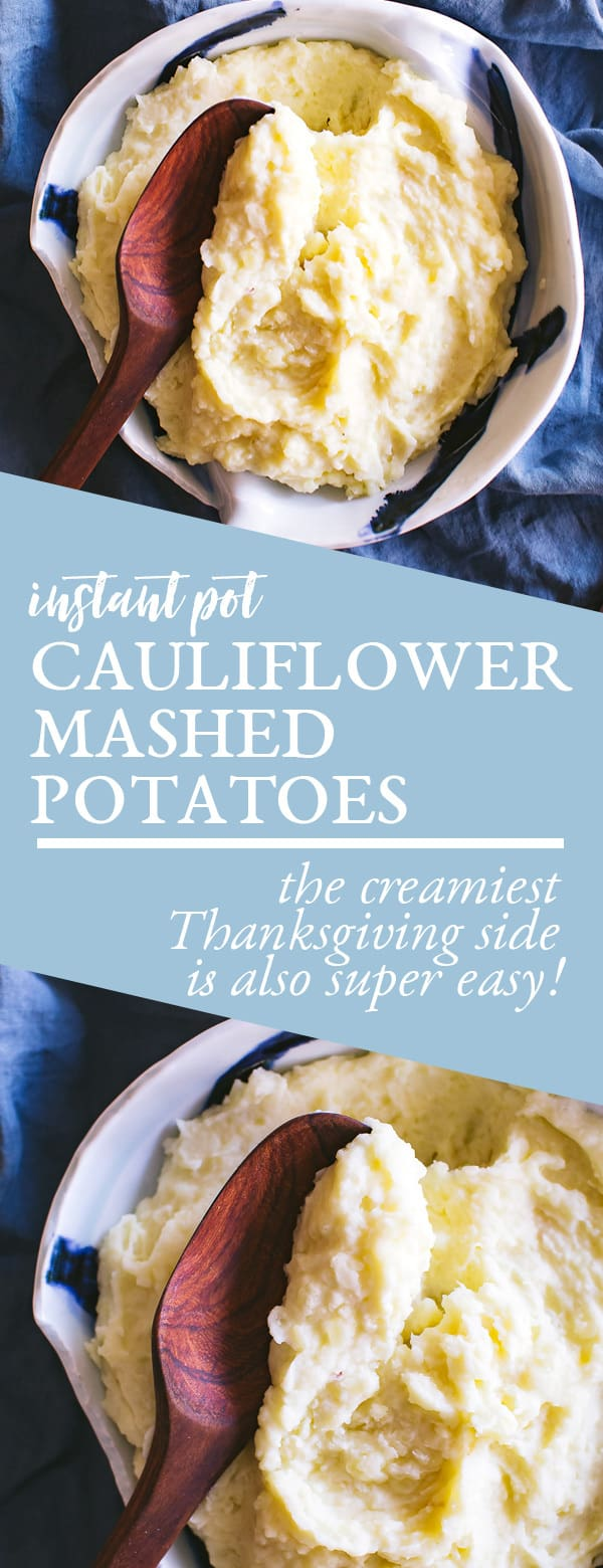 instant pot cauliflower mashed potatoes