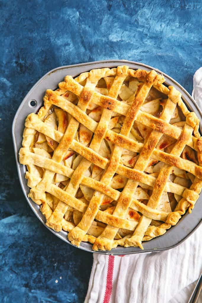 classic apple pie with lattice crust
