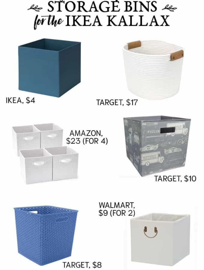 cube storage bins ikea kallax