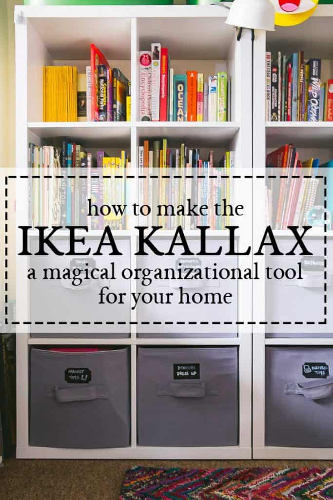 home organization ikea kallax