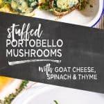 pinterest image of stuffed mushrooms