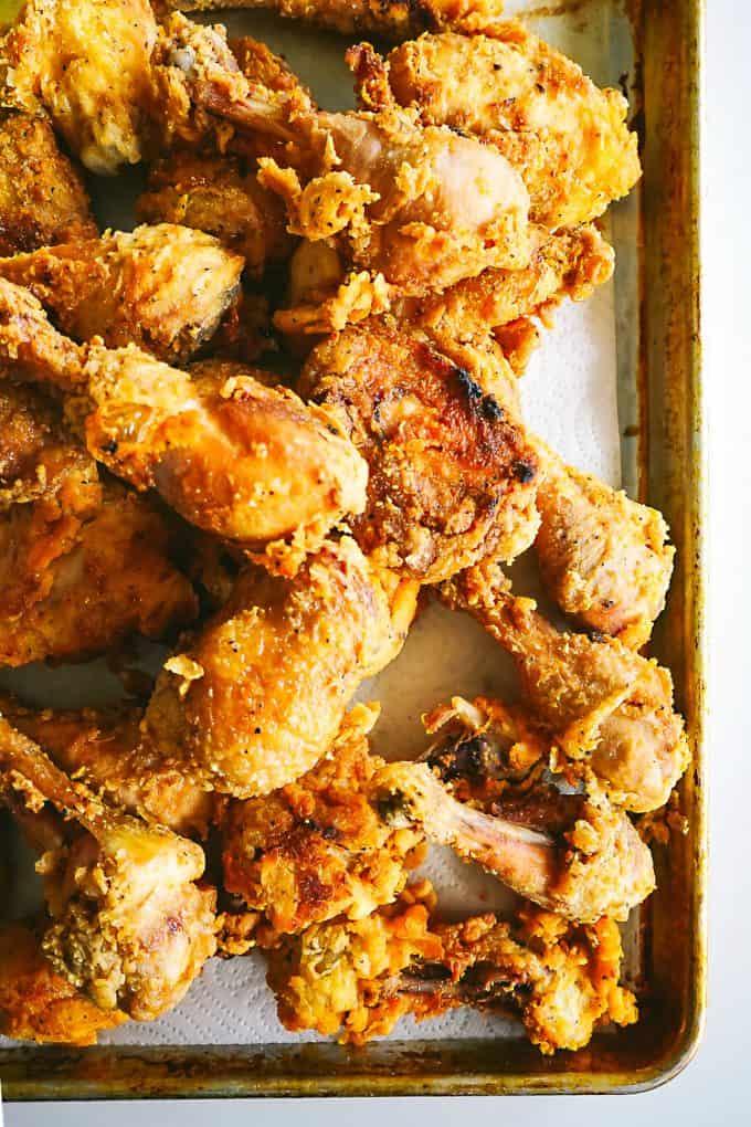 cookbook club potluck fried chicken
