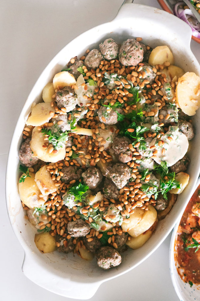 lamb kofte with pine nuts potluck party