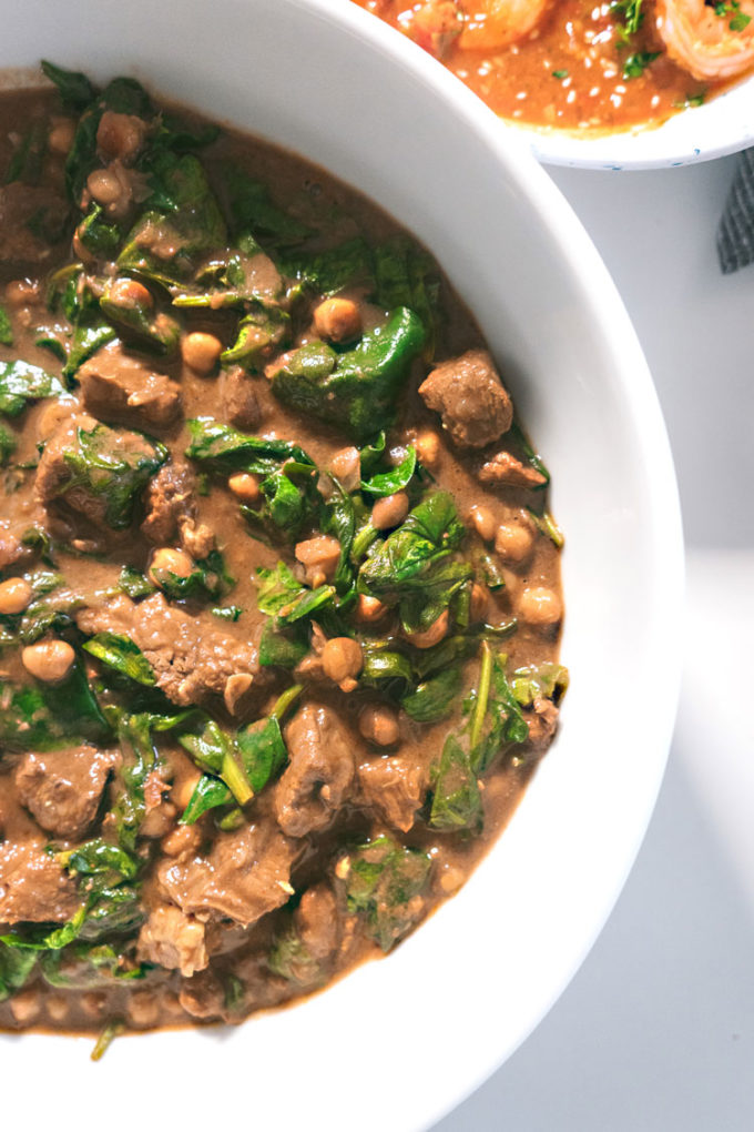beef stew with spinach potluck party