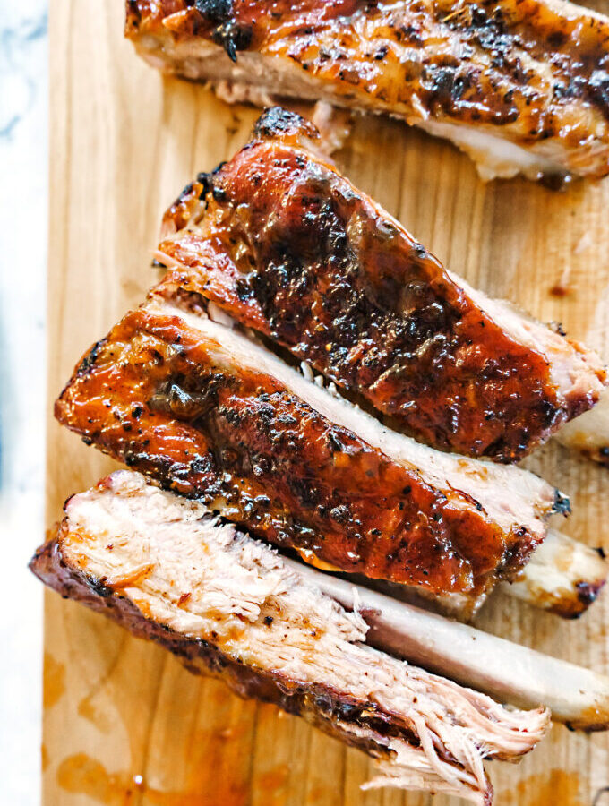 sticky rack of pork ribs