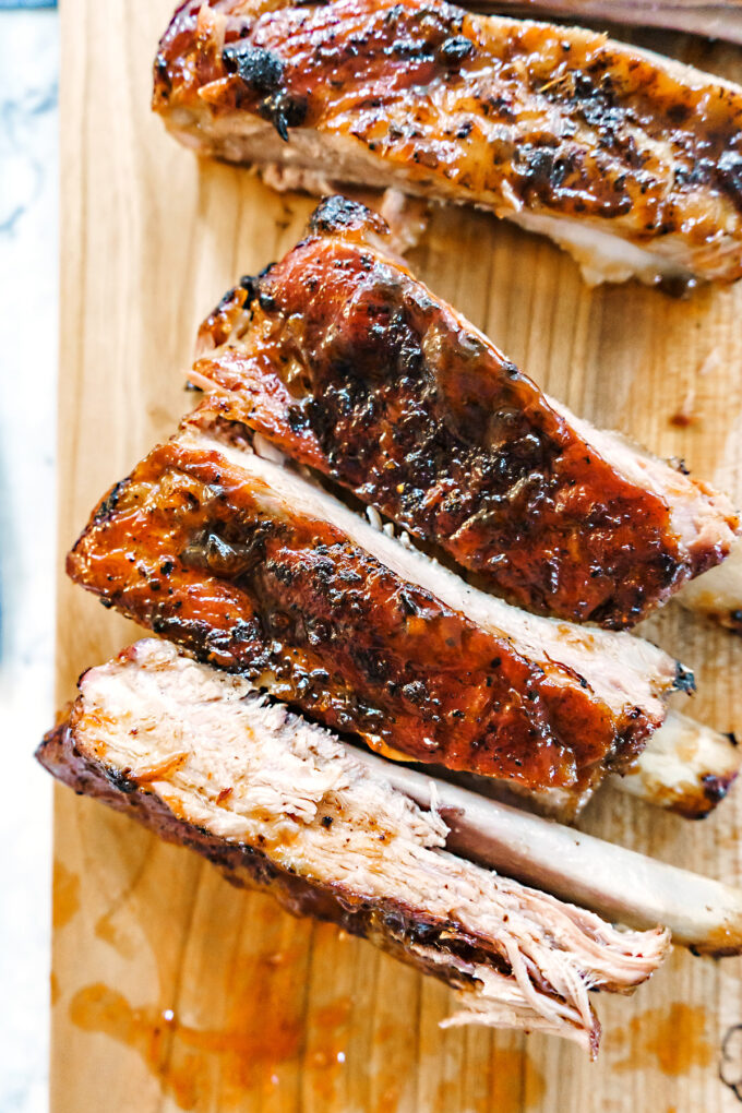 sticky rack of pork ribs