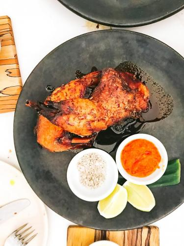 Twice cooked half chicken, lemon myrtle salt, chilli sauce at NOPI   The 12 Things You Must Eat in London Right Now