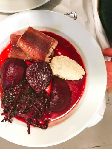 Smoked eel, pickled beetroot and radish   The 12 Things You Must Eat in London Right Now