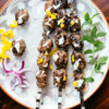 grilled kofta meatballs with mint aioli